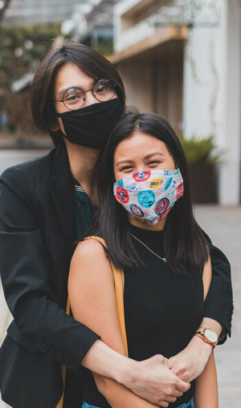 Smiling with a mask